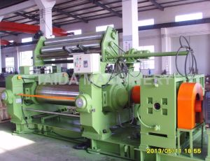Xk-300, 400, 450, 550, 560, 610 Automatic Mode Safest Configuration Two Roll Rubber Open Mixing Mill Mixer Machine pictures & photos