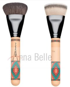 Eco-Friendly Printing Style Wooden Handle Cosmetic Makeup Brush Single Brush