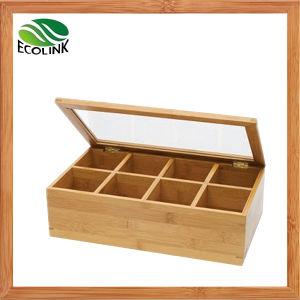 Bamboo Tea Box Chest Storage Organizer for Tea Bag Storage