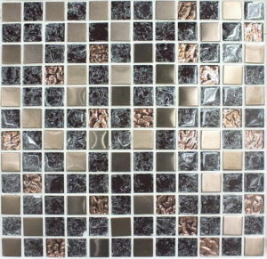 V&V Mosaic Glass Tile, Crystal Mosaic, (VM23051)