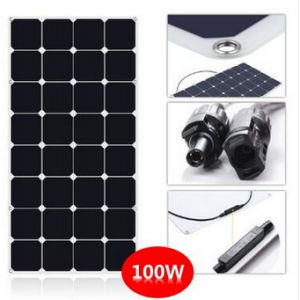 Hot Sale 100W Semi Flexible Solar Panel with Sunpower Cells