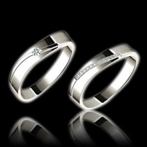 Fashion Plain Platinum Wedding Ring