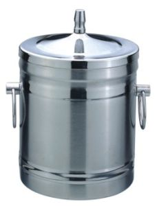 1.0L Capacity Stainless Steel Double Layer Ice Bucket pictures & photos