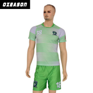 Custom Sportswear Football Shirt Team Name Soccer Uniform for Wholesale pictures & photos