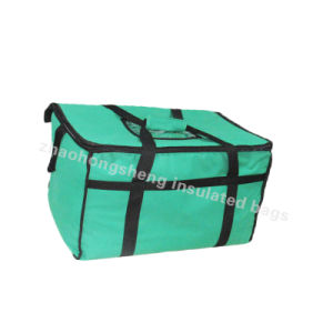 Whole Food Insulated Thermal Lunch Delivery Cooler Bags For Cans Wine Drink Green