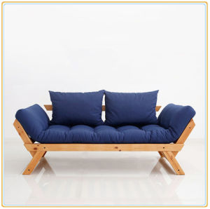 ff22f310e422 China Modern Simple Nordic Japanese-Style Solid Wood Foldable Sofa ...