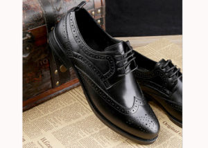 93e8cda2937 China Genuine Leather Business Casual Men Shoes Footwear