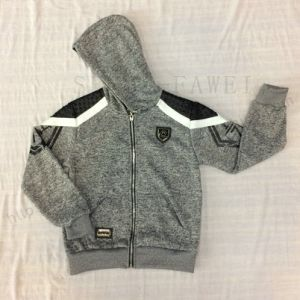 Fleece Boy Design Coat Clothes with Hood in Kids Sport Clothes Sq-6450