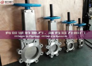 Table D Connection Knife Gate Valve pictures & photos