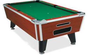 Coin-Operated Solid Wood Pool Table with Slate