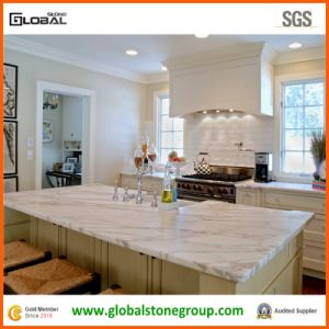 Luxurious Italian Bianco Carrara Marble Laminate Island Tops For Kitchen
