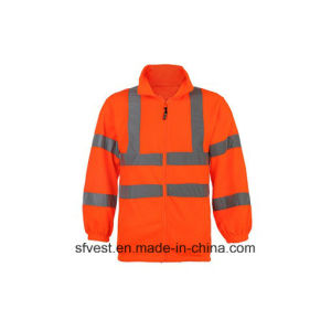 Men′s Long Sleeve Safety Reflective Swear Shirt with 100% Polyester Fleece