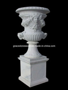 Marble Planter, Carved Stone Flower Pot, Urn (GS-FL-068) pictures & photos