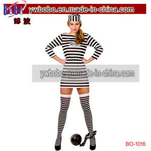 Carnival Costume Cutie Prisoner Convict Fancy Dress Halloween Costume (BO-1016) pictures & photos