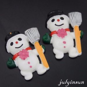 Colorful Resin Christmas Snowman Decoration Findings Adornment Crafts pictures & photos