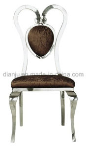Stainless Steel Chair Round Fabric Seat for Dining (B8863)