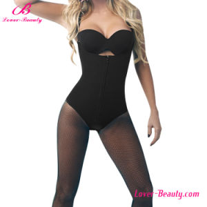 Extraordinary Black Strapped Zipper 6 Steel Boned Butt Lifter Shapewear