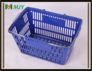 Supermarket Plastic Shopping Basket Mjy-Tb23 pictures & photos