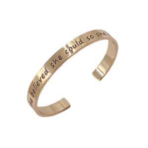 china cheap 8mm rose gold customize sayings bangle jewelry bracelet