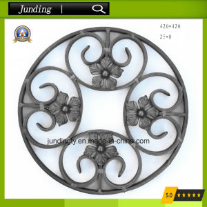 Ornamental Wrought Iron Round Scroll Panel For Gate Railing