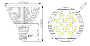 9W IP65 RGBW Waterproof LED PAR Light (Dimmable) Outdoor/Indoor Stage pictures & photos