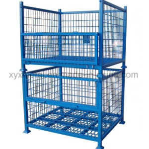 Exported Warehouse Folding Storage Metal Stacking Steel Wire Mesh Container pictures & photos