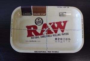 "Raw ""Mini"" Tray Vintage Style Metal Rolling Tray 7X5 pictures & photos"