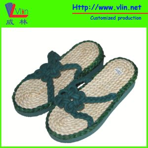 Fashion Sandal / Slipper with Straw Insole
