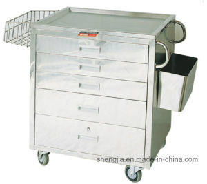 Sjt048 Cart for Anesthesia and First-Aid