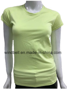 Fluorescent Quick Dry Running Sportswear T Shirt with Reflective Tape pictures & photos