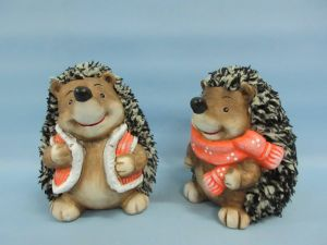 Hedgehog Shape Ceramic Crafts Furniture Decoration
