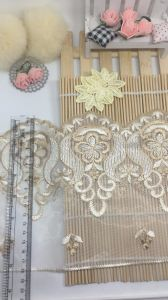 New Design 18cm Width Factory Stock Net Embroidery Trimming Mesh Lace for Garments Accessories & Home Textiles & Fabrics