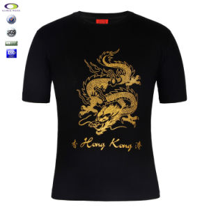 China Wholesale T Shirt Bulk Cheap T Shirt With Gold Foil Printing