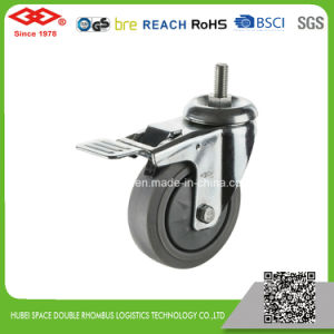 5 Inch Swivel Locked Rubber Wheel Castor (P120-34EB125X32S) pictures & photos