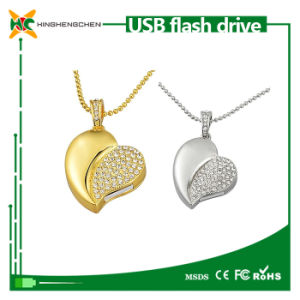 New Crystal Heart Shaped USB Drive Memory Stick pictures & photos