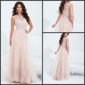Lace Tulle Party Prom Gowns Custom Made Evening Dresses Z8032 pictures & photos
