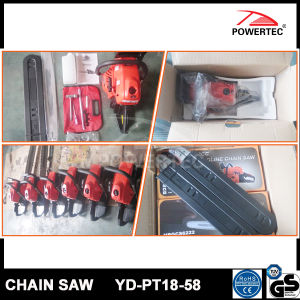 Powertec CE GS 58cc Wood Gasoline Chain Saw Yd-PT18-58 pictures & photos