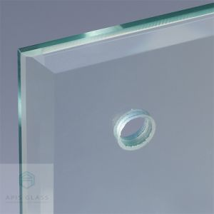 4mm 5mm 6mm 8mm 10mm Clear Tempered Glass with Polishing Edge Drilling  Holes Grooves