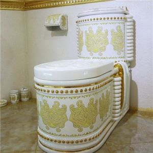 Unique Middle Eastern Designs Luxury Royal Ceramic Sanitary Ware Bathroom Toilet