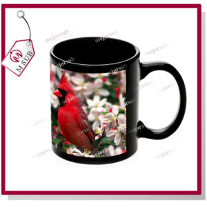 11oz Black Sublimation Patch Mug with Custom Photo pictures & photos