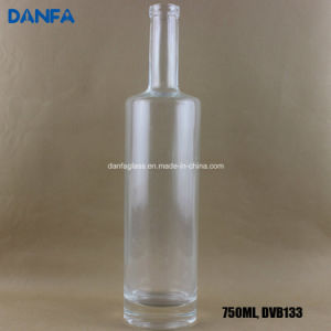 750ml Round Liquor Bottle with Flat Shoulder