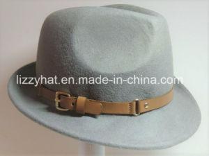 China Felt Hat Fashion Fedora Hat with Leather Band for Women Men ... d491abaf4c0