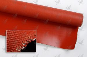 Red Colour Silicon Rubber Coated Fiberglass Cloth One Side pictures & photos