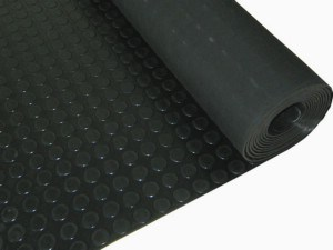 Black Round Button Rubber Sheet, Stud Rubber Sheet for Flooring Rolls pictures & photos