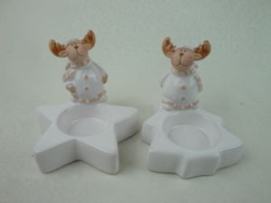 Wholesale Bulk Ceramic Candle Holder in Christmas Reindeer Shape pictures & photos