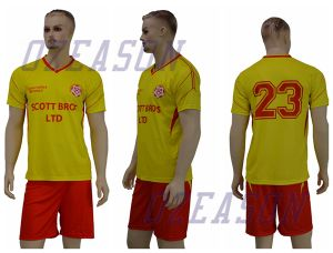 High Quality 100% Polyester Soccer Jersey, OEM Soccer Uniforms pictures & photos