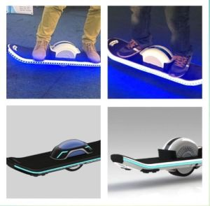 One Wheel Electric Skateboard with LED Lights pictures & photos