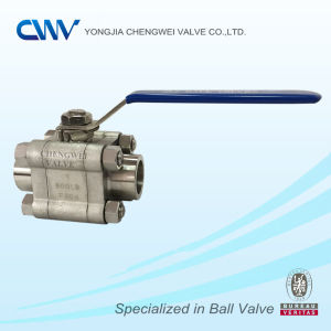 Three Pieces Stainless Steel Floating Ball Valve with Sw End