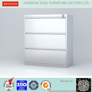 Lateral Filing Cabinet Office Furniture With Three Drawers For F4 Foolscap A4 Size Hanging File