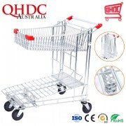Collapsible Portable Shopping Cart with Wheels That Folds Cheap Modern Shopping Trolley to Buy
